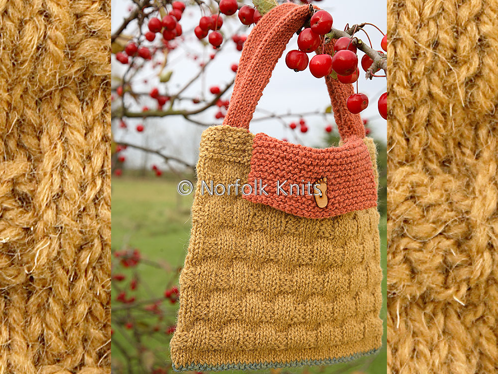 Norfolk Knits child's basketweave handbag