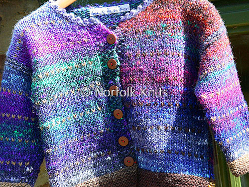 Fringed Noro Child's Cardigan