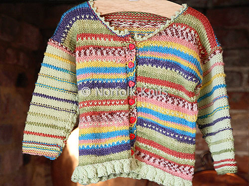 Fringed Wool/Bamboo Child's Cardigan