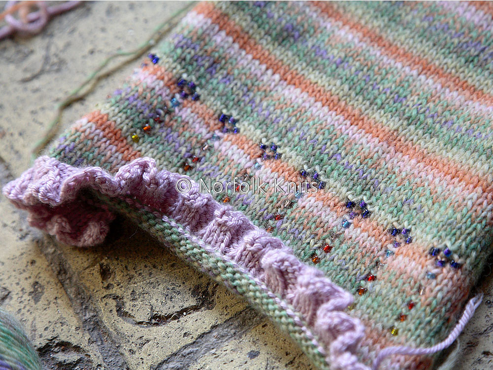Norfolk Knits Beaded Knitting — Child's Cardigan