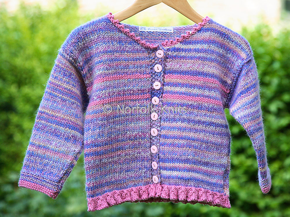 Norfolk Knits Fringed Edge Child's cardigan