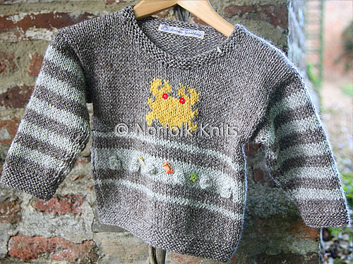 Crab Aran Child's Jumper